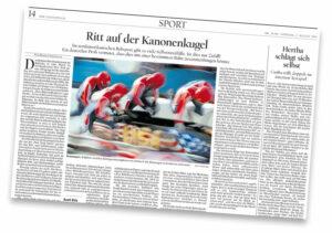 Der Tagesspiegel: Ritt auf der Kanonenkugel